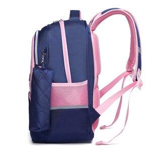 Image 3 - OKKID الأطفال الحقائب المدرسية للفتيات لطيف الكورية نمط الاطفال الوردي حقيبة العظام حقيبة المدرسة لصبي مقاوم للماء bookbag هدية