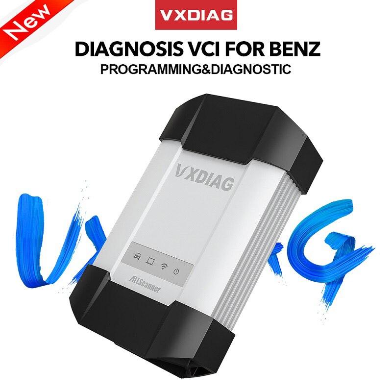 VXDIAG VCX C6 Per Benz Auto Professionale Strumento Diagnostico SD Collegare meglio di MB star C4 C5 wifi Obd2 codice scanner programmazione