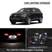 27x LED 번호판 라이트 + 미러 램프 + 내부 돔지도 전구 키트 VW 용 Touareg 7P 7P5 7P6 (2010 +)