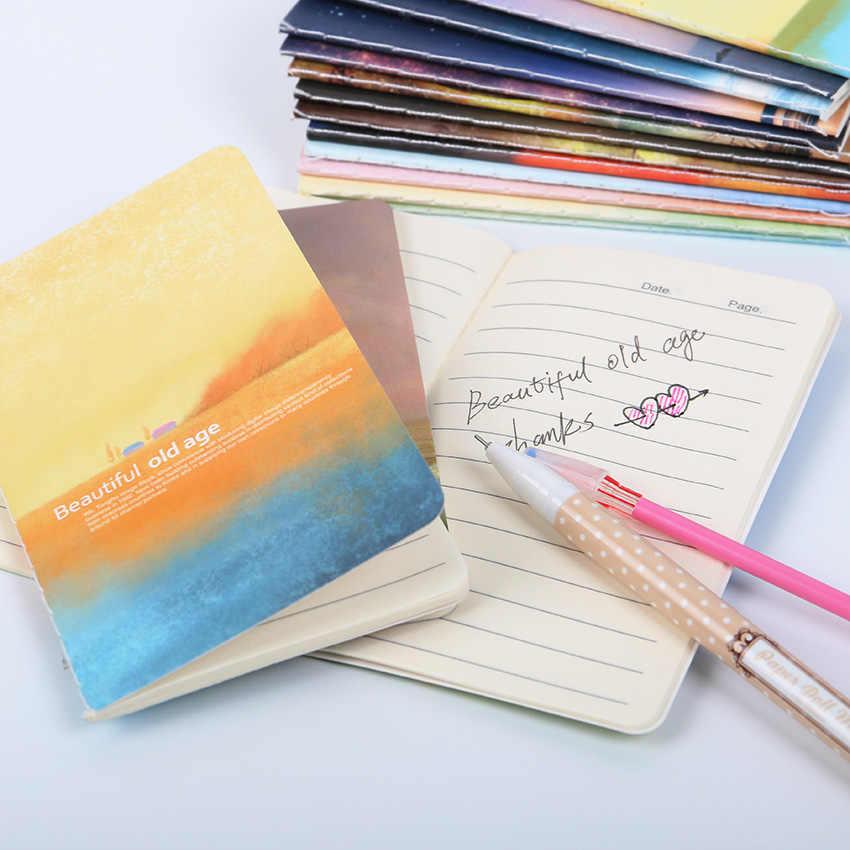 80K מיני חמוד Journal יומן עם מרופד נייר בציר רטרו פנקס ספר בית ספר מכתבים
