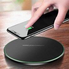 Qi металлическое 10 Вт Беспроводное зарядное устройство для iPhone 11 8 X XR XS Max QC3.0 быстрая Беспроводная зарядка для samsung S10 Note 8 9 USB зарядное устройство