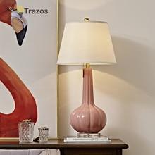 Modern Nordic Minimalist Metal ceramics Table Lamp Italy Design PInk Light Bedside For Living Room Study Bedroom