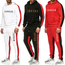 Tracksuit Men 2 Piece Sets 2021 New Brand Autumn Winter Print Hooded Sweatshirt+Pants Pullover Hoodie Sportwear Suit Ropa Hombre