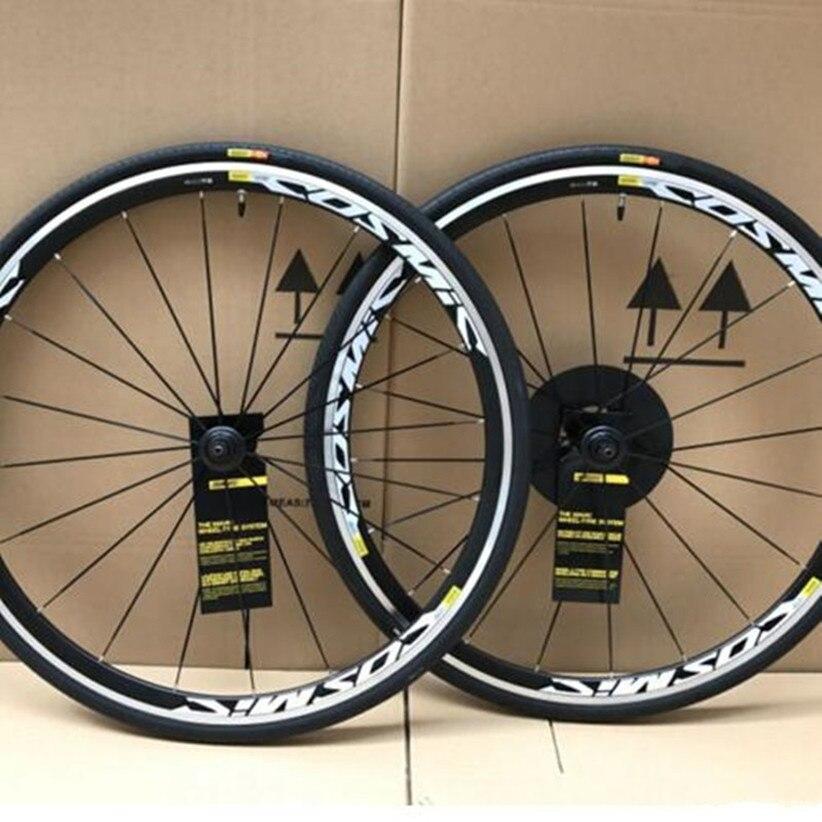 700C Cosmic BMX Rennrad Fahrrad Rad Aluminium Legierung V Bremse Räder Laufradsatz Felge Für SHIMANO