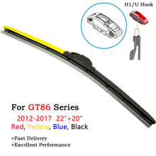 Toyota GT86 Accessories Wiper Blades 2Pcs Colorful Boneless Windshield Wipers For GT86 Vehicle From 2012 To 2017 Fit H1 U J Hook сумка printio finest fitment gt86