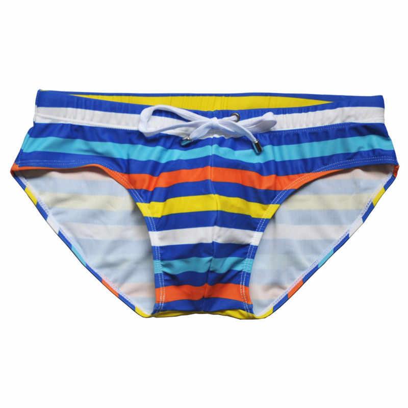 Badehose männer Dreieck Neu Sexy Gradienten Badehose Strand Schwimmen Shorts Mode Mens Briefs JAYCOSIN NEUE VERKAUF 2020