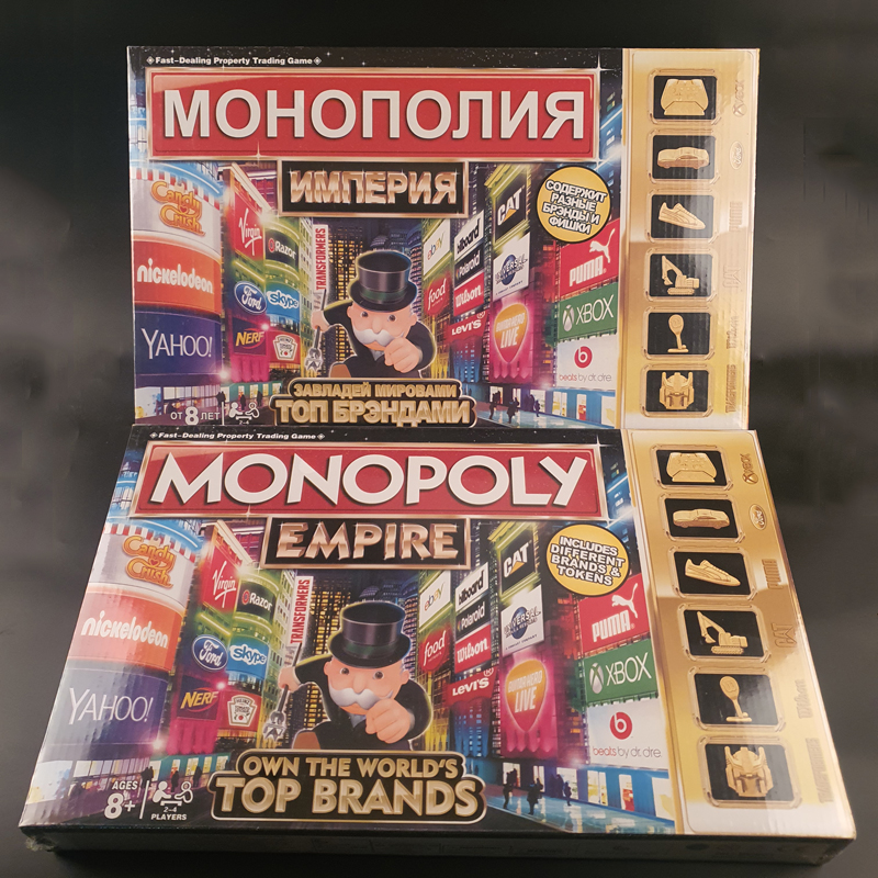 Monopoly Classic Board Game English French Russian Arabic Spanish Monopoly Game Board Card Party Game Kids Toy Gift