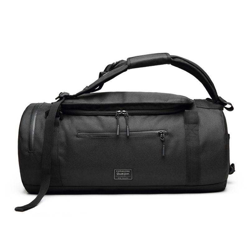 Многофункциональные унисекс модные спортивные сумки на плечо для тренажерного зала, сумки для фитнеса, тренировок, йоги, путешествий, сумка с ручками - Цвет: Черный