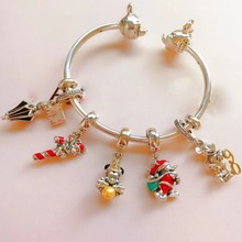 цена на high quality 1:1 100% 925 silver Sterling mouse-bracelet modeled with a free shipping opening