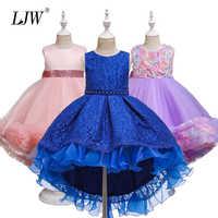 Vestido de princesa de encaje para niña, elegante vestido de fiesta de cumpleaños para niña, ropa para niña de 4 a 14 años