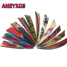 50pcs Archery Turkey Feather Flower Plume 4 Arrow Vanes 12 Kinds Of Colorful Fancy Feathers Hunting Accessories