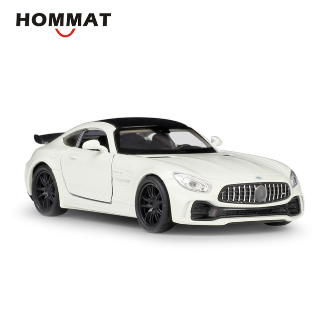 HOMMAT Welly 1:36 Scale AMG GT R GT-R Car Model Metal Alloy Diecasts & Toy Vehicles Model Car Vehicle Toy Car For kids Pull Back