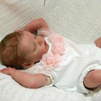 17 بوصة كامل سيليكون الجسم تولد من جديد ألعاب الدمى نابض بالحياة الوليد بوي الرضع طفل رضيع دمية الأطفال الحاضر الاستحمام لعبة