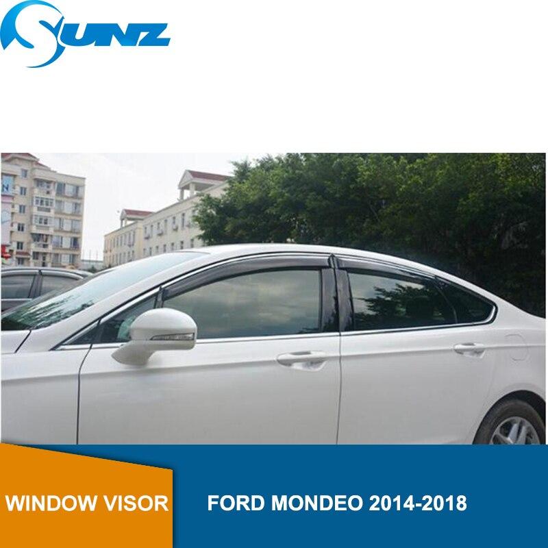Side Winodow Deflectors  For Ford MONDEO 2014 2015 2016 2017 2018  Window Visor Vent Shades Sun Rain Deflector Guard SUNZ Chromium Styling     -