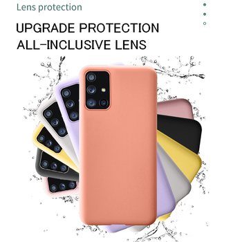 New Original Liquid Silicone Soft Cover Case For Samsung Galaxy A51 A71 S20 Ultra S10 Plus S8 S9 S10E A50 A70 A20 A30 Capa Coque image