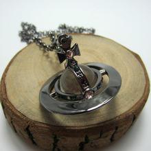 Europeu e americano moda titânio preto tridimensional contas de vidro longo colar