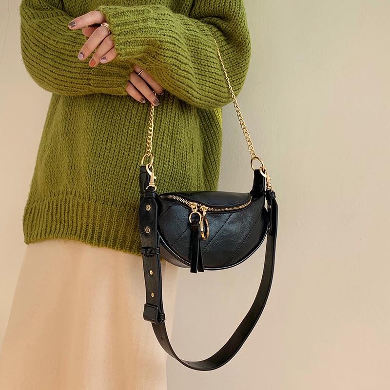 Women Waist Bag Belt Bag Fashion PU Leather Fanny Pack Waist Packs 2019 Brand Hip Package Chest Pack New Female Crossbody Bags
