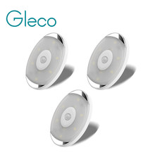 Led Night Lights Met Sticker Draadloze Pir Motion Sensor Led Batterij Garderobe/Kast Puck Licht Onder Kast Licht(China)