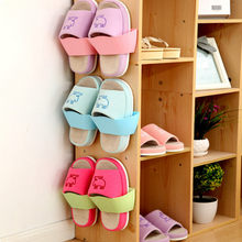 30^Hanging Sneakers Storage Rack Wall Mounted Shoes Finishing Organizer Shelf Holder Home Space Saving Self Adhesive Shoe Hanger(China)