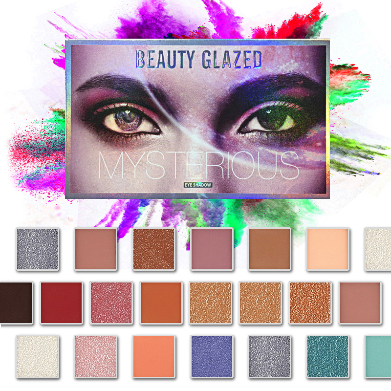 Beauty Glazed 18 Color Glitter Matte Eyeshadow Palette Makeup Glitter Pigment Smoky Highlight Eyeshadow Palette Cosmetics TSLM2