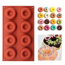 Moule à beignets en Silicone à 8 cavités, antiadhésif, pour pâtisserie, biscuits, chocolat, Muffin, outils de décoration de Dessert