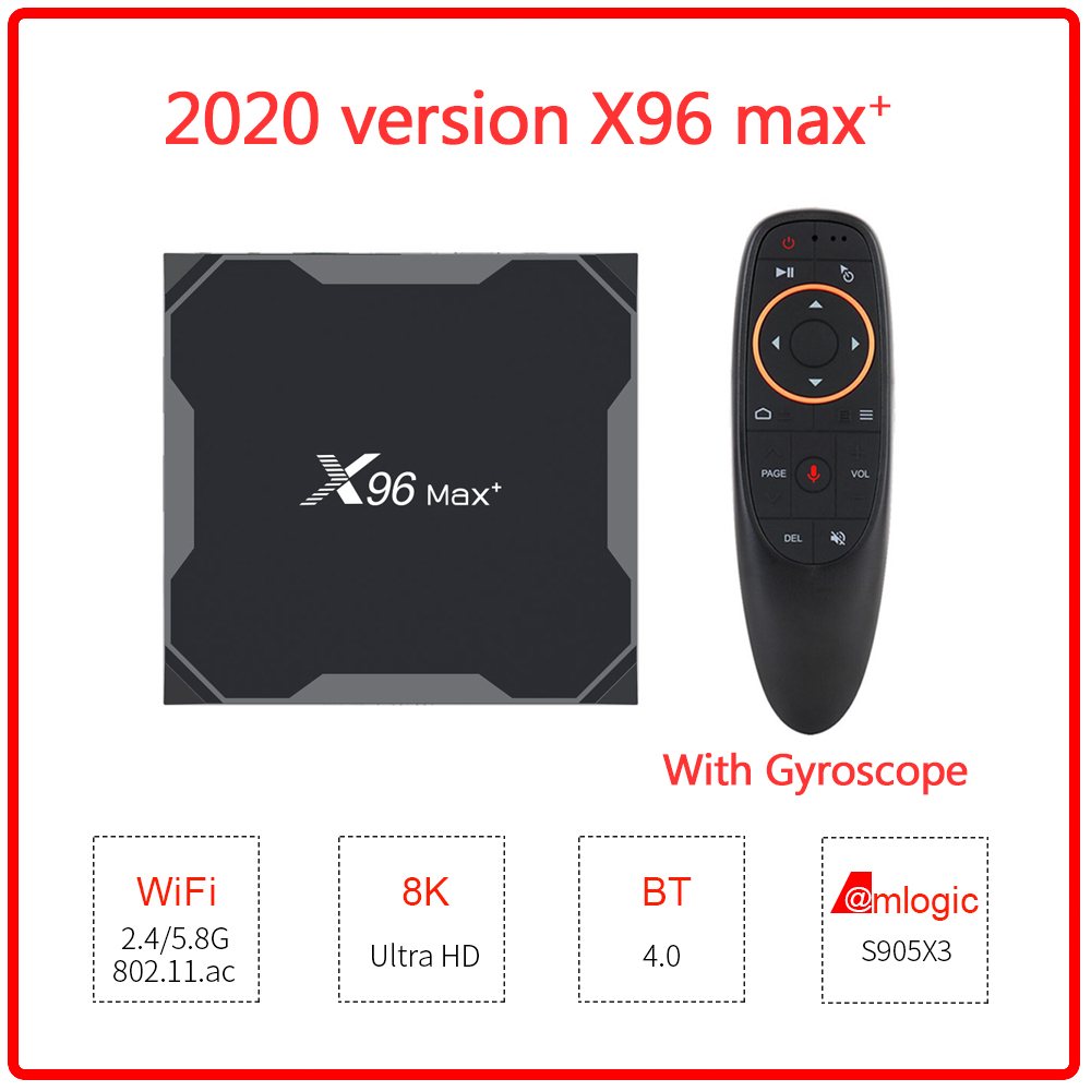 X96max Plus Android 9.0 TV Box Amlogic S905x3 8K Smart Media Player Youtube Netflix Wifi 2.4/5G Android smart tv box PK X96 max