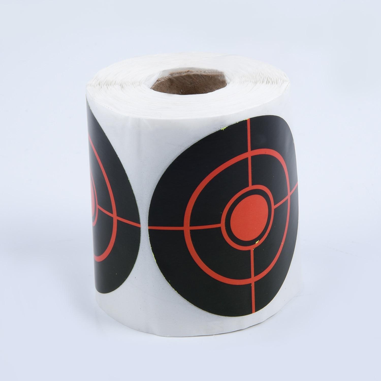 250Pcs/Roll 7.5cm Splatter Target Paper Stickers For Archery Darts Shooting Tool Reactivity Shoot Target Aim For Gun / Rifle