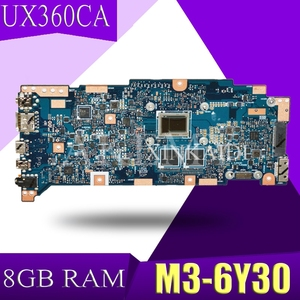 XinKaidi ZenBook UX360CA Laptop płyta główna do asusa UX360CA UX360C UX360 Test oryginalna płyta główna M3-6Y30 CPU 8GB RAM
