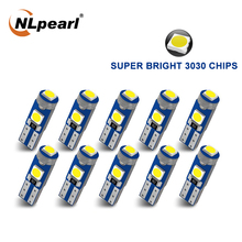 NLpearl 10x сигнальная лампа T5 светодиодные лампы W3W W1.2W Led Canbus 3030SMD интерьера автомобиля светильник авто на приборной панели потепления индикато...