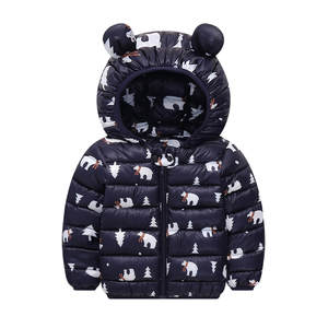 Jacket Outwear Coats Hooded Girl Infant Winter Children Boy Thick Ears Casual