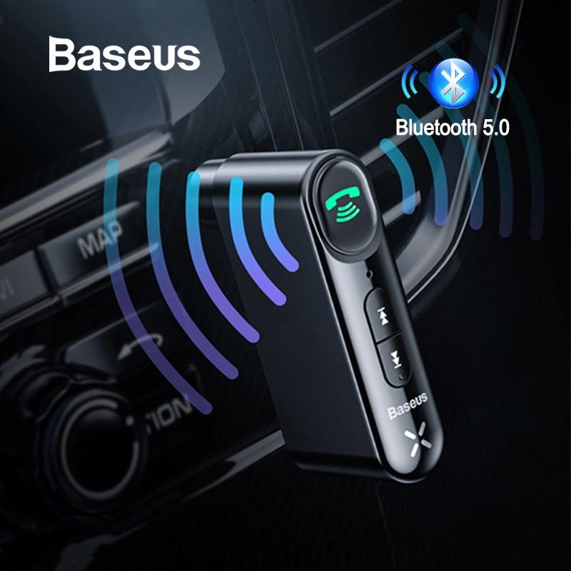 Baseus AUX Car Bluetooth Receiver 3.5MM Jack Audio Music Bluetooth 5.0 Car Kit Wireless Handsfree Speaker Bluetooth Car Stereo