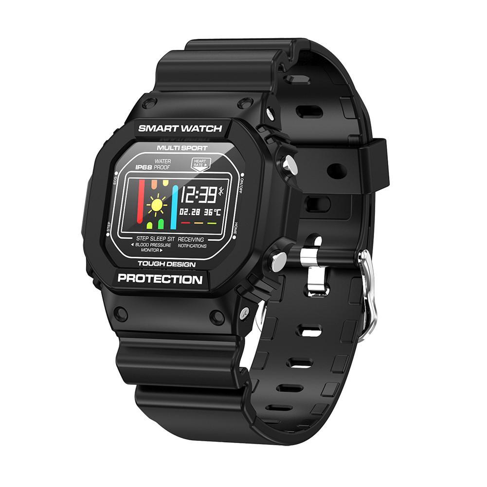 X12 ЭКГ+ PPG Спорт Здоровье Водонепроницаемый Bluetooth Смарт часы Пульс мониторинг сердечного ритма ЭКГ кровяное давление монитор сна Браслет - Цвет: Black