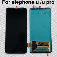 Amoled 100% מקורי נבדק עבור elephone u/u pro lcd תצוגת מסך מגע עצרת חלקי תיקון עבור elephone u upro E9002