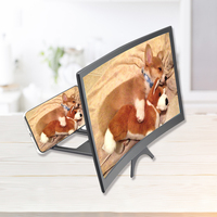 """12"""" 3D Mobile Phone Screen Magnifier Bracket Enlarge Stand Eyes Protection Curved Folding Video Screen Display Amplifier 1"""