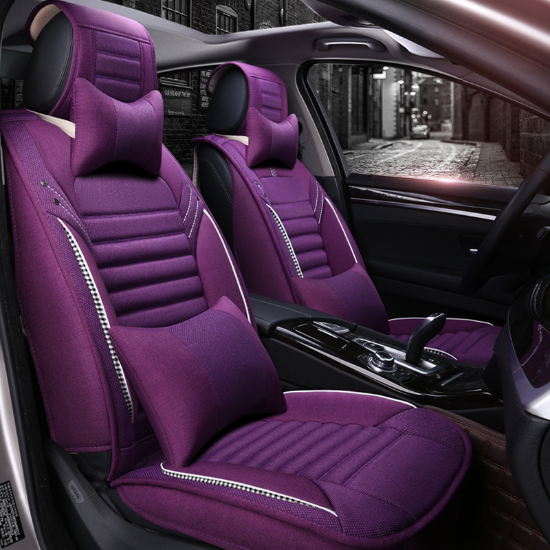 Full Coverage flax fiber car seat cover auto seats covers for audi a7  audi a8 audi q3 auv  q5 suv  q7 q8 quattro|Automobiles Seat Covers| |  - title=
