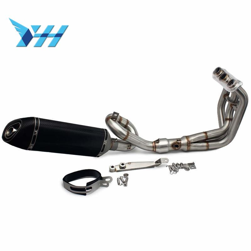 Motorcycle Full Exhaust System Header Loop Front Pipe Muffler For YAMAHA MT09 FZ09 MT-09 FZ-09 2014-2018 XSR900 NOT for Tracer image
