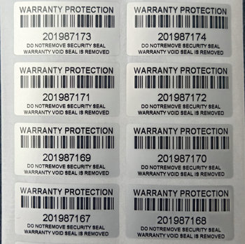 100PCS protection warranty sticker 30mm x 15mm security seal tamper proof false decal - sale item Stationery Sticker
