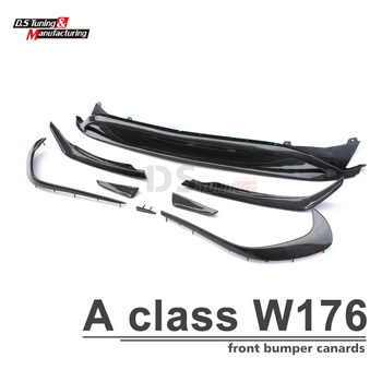 W176 ABS Front Bumper Lip Canards 8 Pieces/set for 2016 - 2018 A Class A45 & Sport Models Only цена 2017