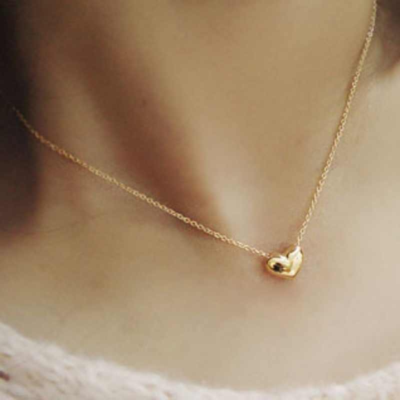 חם אופנה אהבת לב עצם הבריח שרשרת שרשרת נשי תכשיטי עבור אמא מתנות