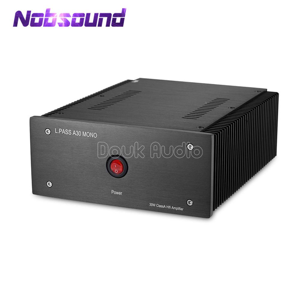 Nobsound Hi-end Mono Channel Power Amplifier MOSFET Class A RCA Single-Ended / XLR Balanced 30W Power Amp Pass A30 Circuit