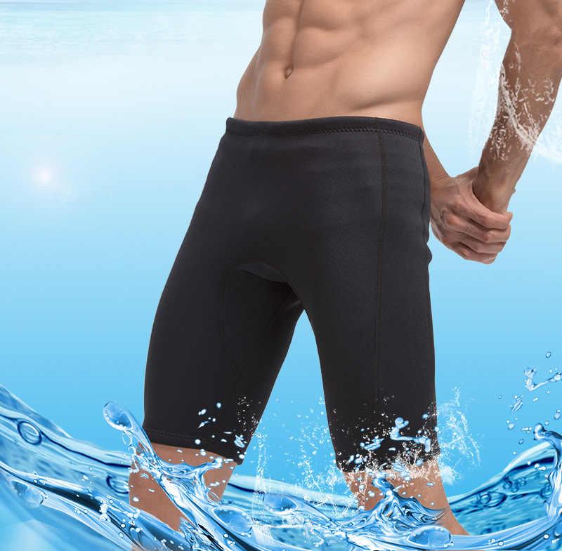 Sbart erkekler 3mm neopren şort serbest dalış spearfishing dalış şort şnorkel mayo bölünmüş sörf sıcak streç yüzme kısa