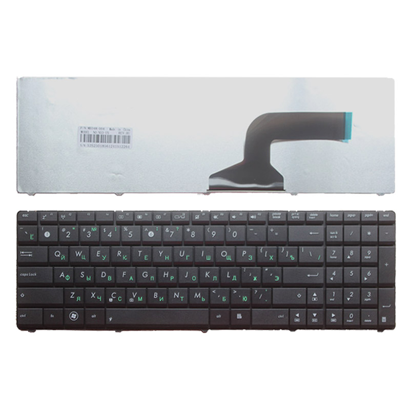 Russian Keyboard FOR ASUS K54 K54C K54D K54H K54L K54LY K54S K54SL K54HR K54HY X54C X54L X54LY N53TK Black RU Laptop Keyboard
