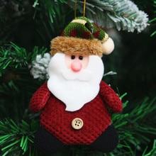 3pcs/Lot Creative Ornament Santa Claus Snowman Elk Deer Good Gift For Children Kids Christmas Tree Decor Supplies