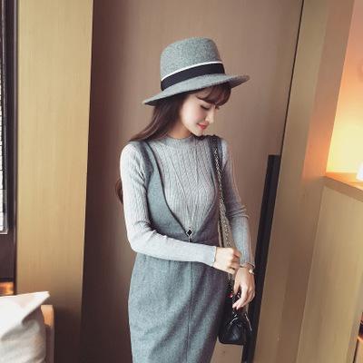 2019 Autumn New Korean Solid Color Joker Crew Neck Slim Fit PulloverThread Knit Basic Women Sweater 15