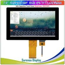"""7 """" / 7.0"""" cal 1024*600 50P_RGB IPS moduł TFT LCD wyświetlacz ekran i FT5426 I2C pojemnościowy Panel dotykowy"""