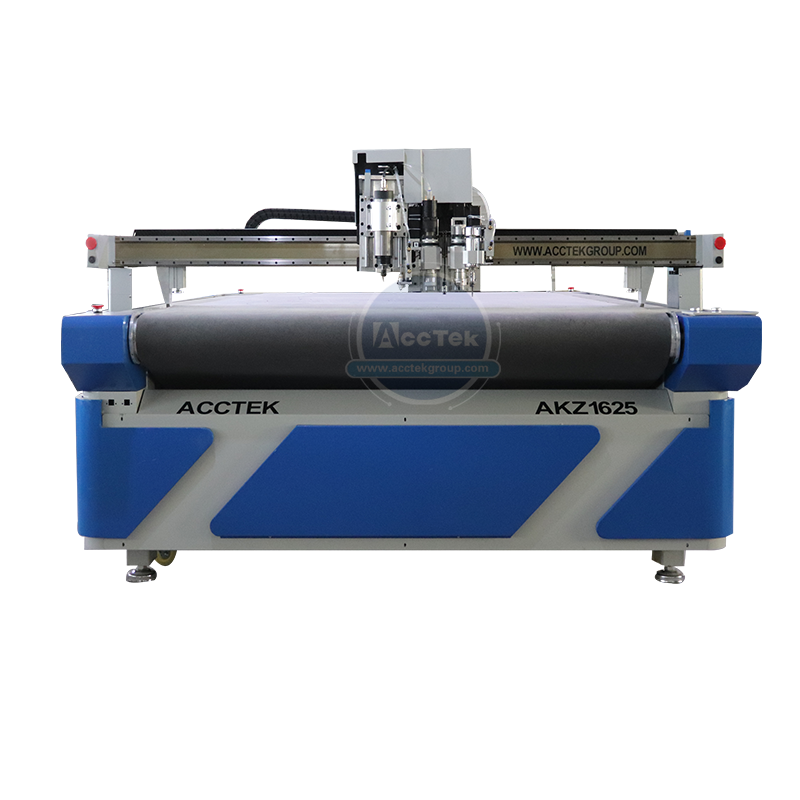 2020 AccTek Cnc Vibrating Machine With Autofeed System AKZ1625 Cnc Oscillating Knife Cutter