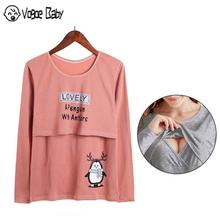 New fashion Maternity clothes t shirt Women Solid Pregnant Nursing Baby tees Multifunctionl Blouse T-Shirt 7479