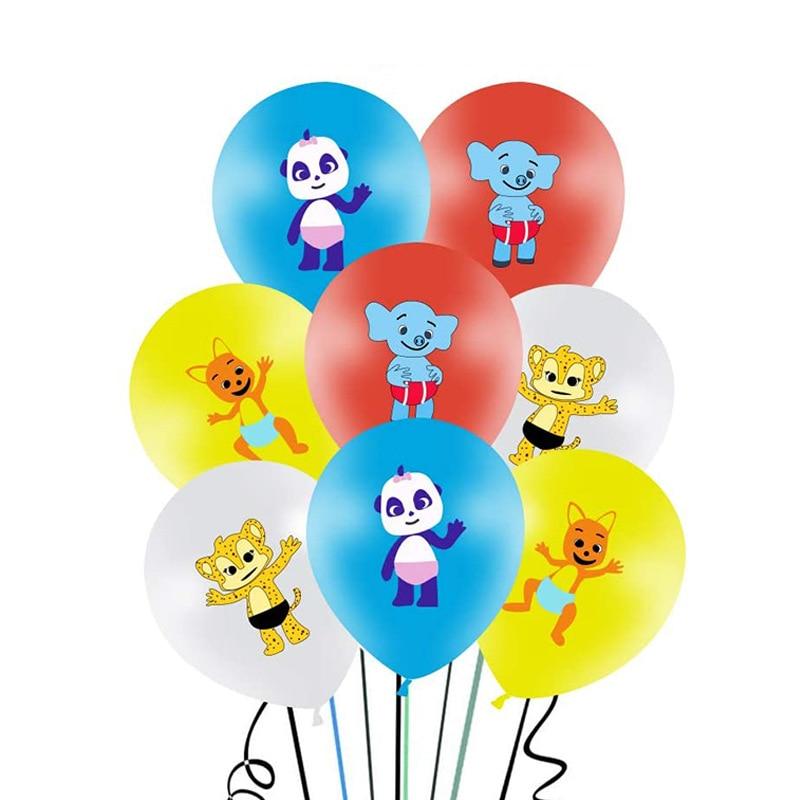 12 шт./лот 12 дюймов слово вечерние баллоны Baby слона тигра воздушных шаров из латекса в животном стиле Вечерние, хороший подарок на день рожден...