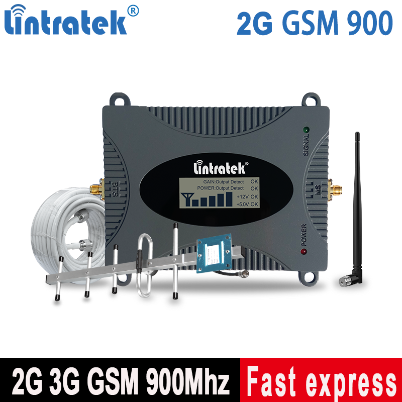 Lintratek GSM Cell Phone Repeater 2G 900MHz Mobile Signal Booster 2G 3G Cellphone Amplifier Ampli Voice Call Signal KW16L-GSM-S