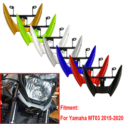 2020 mt03 motocicleta frente cowl superior farol carenagem ficar suporte para yamaha MT-03 mt 03 2015 2016 17 18 19 2020 acessórios
